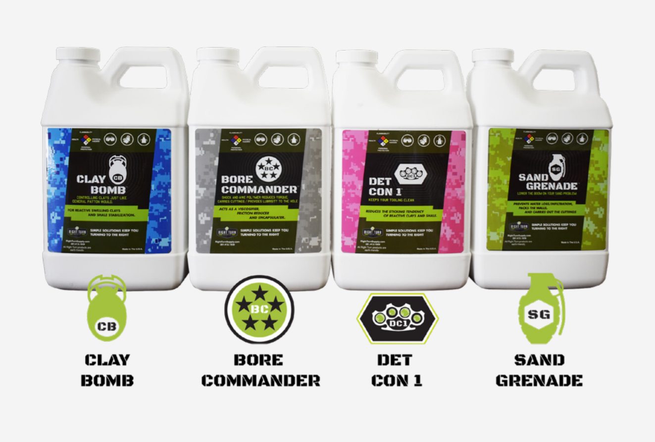 Right Turn Supply HDD Drilling Fluid Product Lineup