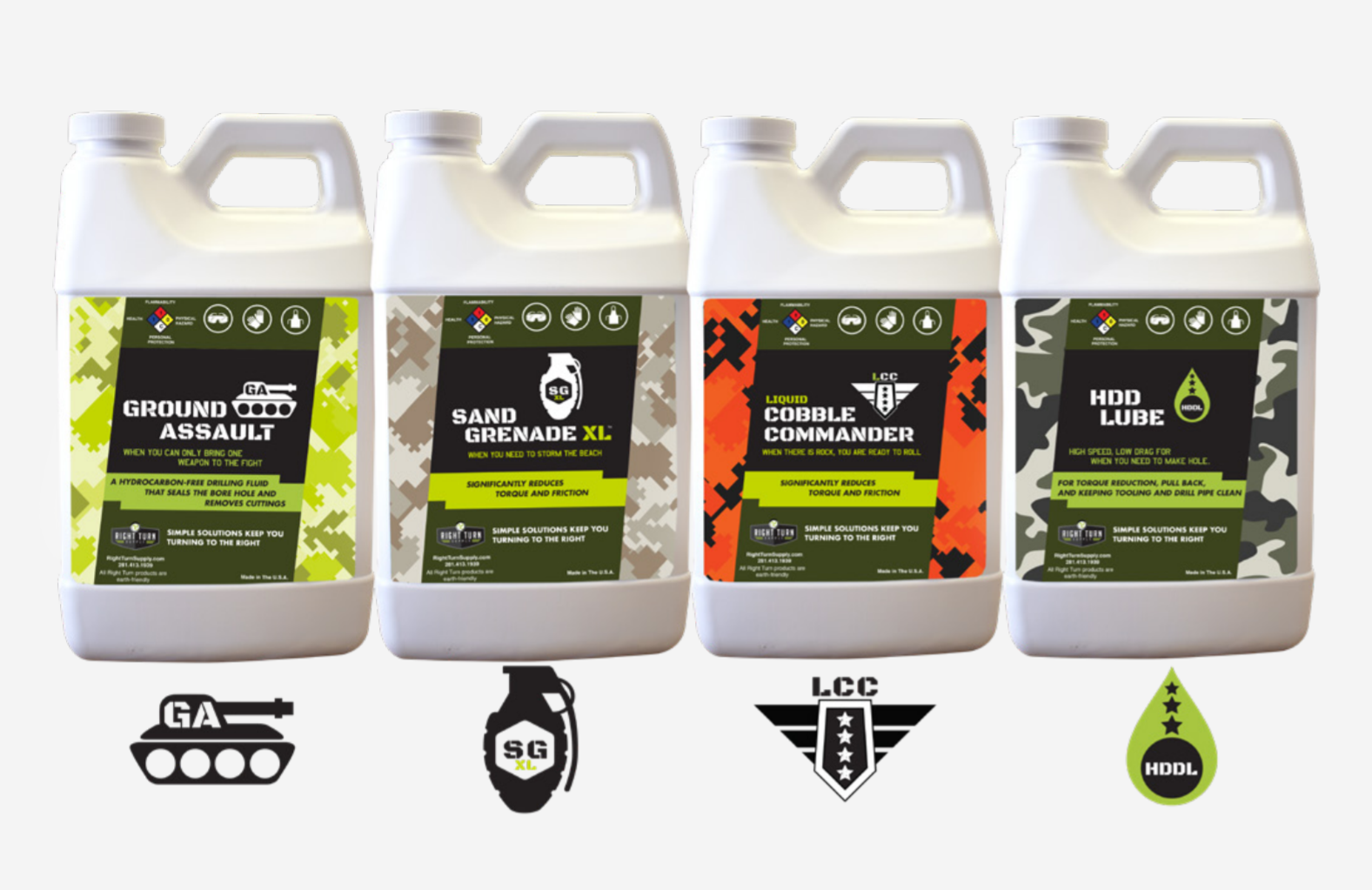 Right Turn Supply HDD Drilling Fluid Product Lineup Special Forces