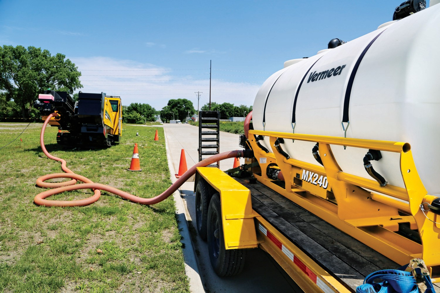 Vermeer D40x55 Directional Drill and MX240 Mixer
